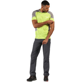 Regatta Camito T-Shirt Homme, electric lime/rock grey